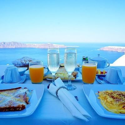 【グルメの部 受賞作品】『最高の朝食Greece in Santorini【Above Blue Suites】Awesome breakfast』tanu さま